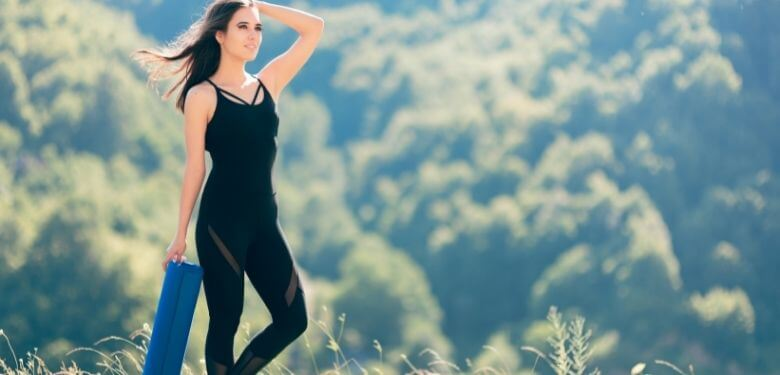Yoga i jumpsuit